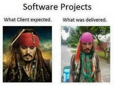 What client expected and what was delivered, software, Projects, deliver…