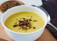 Parsnip & garlic soup with spiced seeds   Dunnes Stores