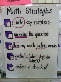CUBES math strategies