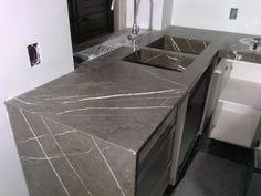 Top cucina Rossana in quarzo Vanilla Jaipur StoneItalia , vasca e ...