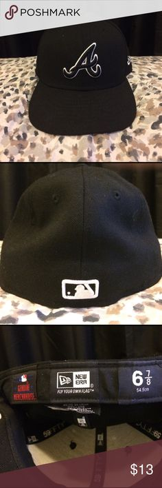 Baseball cap Black, Atlanta Braves hat (only worn about 3 times). Anyone can wear it. New Era Accessories Hats