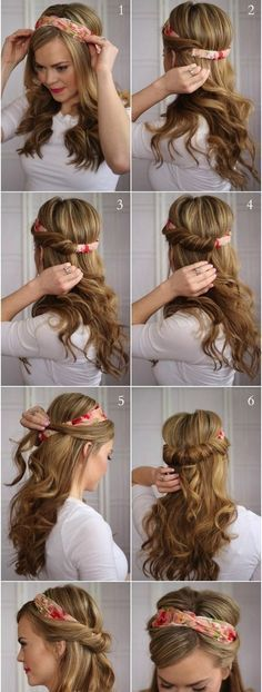 Easy, So-Pretty Hairstyles You Can Do in Under 5 Minutes: Here are our favorite fast hairstyles for short hair, long hair, and everything in between. Fast & Easy Hairstyle For When You're Running Late Back To School Hairstyles, Easy Hairstyles For Long Hair, Scarf Hairstyles, Pretty Hairstyles, Girl Hairstyles, Braided Hairstyles, Wedding Hairstyles, Fast Hairstyles, School Hairdos