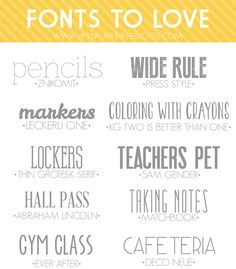 10 Free Fonts to Love | jessicaweibleblogs.com