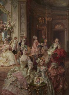 Cesare Auguste Detti (1847 - 1914) - A delightful performance