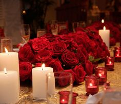 Center piece Red, Silver, White & Black Wedding Inspirations
