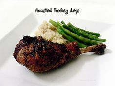 Roasted Turkey Legs - I love these at the fair and they are really easy to make at home too!