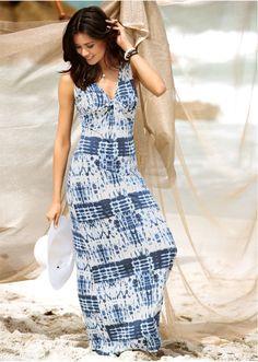 Długa sukienka z przewiązaniem • 109.99 zł • bonprix