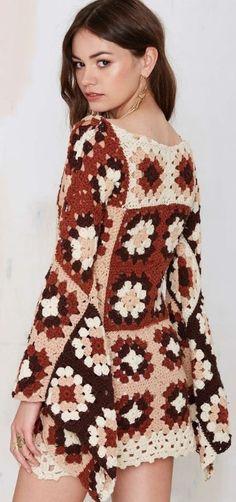 vestido cuadrado de la abuelita kryuchkom1
