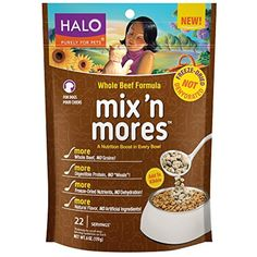 Halo Mix 'n Mores Holistic Freeze Dried Meal Enhancers, Whole Beef, 6 OZ of Dog Food Toppers @@ You can read more reviews of the product by visiting the link on the image. (This is an affiliate link and I receive a commission for the sales)