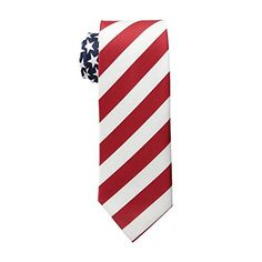 Men's American Flag Neck Tie USA Patriotic NeckTie Red White Blue Colors - http://droppedprices.com/ties/mens-american-flag-neck-tie-usa-patriotic-necktie-red-white-blue-colors/