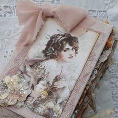 Journal Cards, Junk Journal, Journal Ideas, Memory Album, Burlap Fabric, Handmade Tags, Needle Book, Handmade Journals, Scrapbook Embellishments