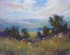 'Mountain Memories' 8x10  pastel         ©Karen Margulis - Painting My World