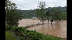 Massive flooding slammed parts of West Virginia on Thursday, June 23, 2016.  Multiplecounties were affected by the floodsincluding Greenbrier County, home of The Greenbrier Resort, which is set to host the PGA Tour's Greenbrier Classic next month.