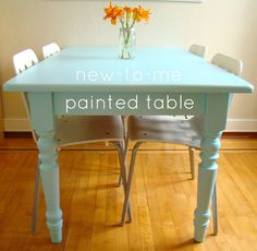 Family Feedbag: A painted table....love this color!!!!