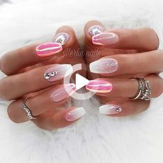 21. French Manicure with Rhinestone Accent Nail The next idea we have to show you is this french manicure with rhinestone accent nail. Instead of the bright rhinestones like we saw earlier these ones are pretty and elegant. Clear, pink and purple stones have been used. Nails like these would be perfect for a special occasion. […] #ombrenails Nail Art Designs, Fruit Nail Designs, Elegant Nail Designs, Elegant Nails, Nail Art Strass, Pierre Rose, Purple Ombre Nails, Short Fake Nails, Fruit Nail Art