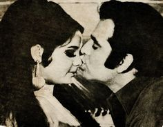 Feroz kissing a pretty nose of Mumtaz