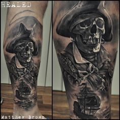 Skeleton Pirate http://tattooideas247.com/skeleton-pirate/