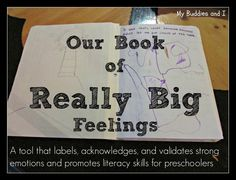 Our Book of Really Big Feelings - a tool that labels, acknowledges, and validates strong emotions and promotes literacy skills for preschool...