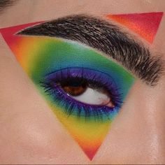 48 Hübsche Regenbogen-Make-up-Ideen 48 Pretty Rainbow Makeup Ideas Illuminati Confirmed – Pretty # Makeup Eye Looks, Eye Makeup Art, Colorful Eye Makeup, Crazy Makeup, Cute Makeup, Gorgeous Makeup, Eyeshadow Makeup, Awesome Makeup, Fairy Makeup