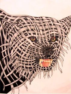 Lesson Plan: Contour Drawing - Wrapped Animal Portraits