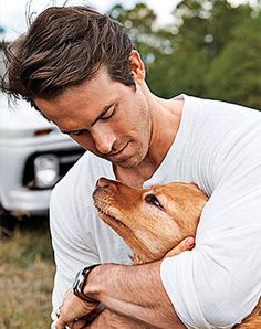 7 Celebrities...and Their Dogs Ryan Reynolds and Baxter