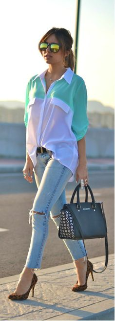 Great Turquoise Sunset By Just Coco. Great Look and Lovely Style.