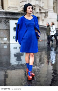 Blue is the new Blue - FW - Paris