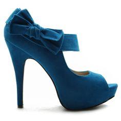 Amazon.com: Ollio Womens Pumps Platform Open Toe High Heels Ribbon Accent Multi Colored Shoes: Shoes