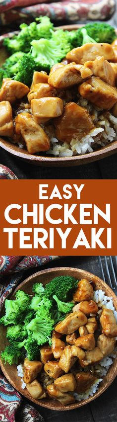 Easy Chicken Teriyaki - An easy dinner recipe that is perfect for weeknights! Comes together in 20 minutes and is better than takeout. #asian #dinner #chicken #recipe