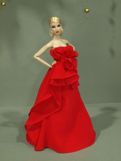 Evening dress by  for Fashion royalty  / silkstone  dolls by t.d.fashion5/2/1 #Enteryourown #DollswithClothingAccessories