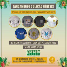 Criação da nova coleção Gênesis da marca Avivar T-shirt.