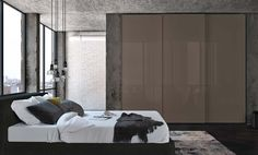 The Square wardrobe from Jesse Furniture, Italy, has a wealth of design options from matt or gloss lacquered doors to mirrored doors with matching lacquered profiles�