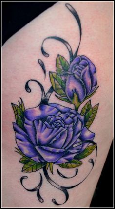 Find This Pin And More On Tattoos Purple Flower Tattoo Ideas