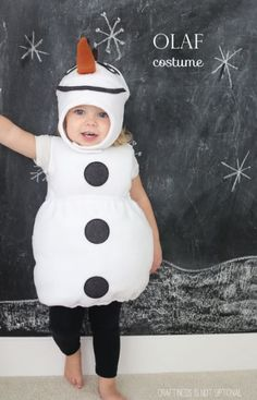 Diy Kids Olaf Costume Picture
