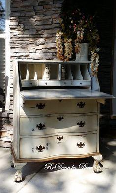 Customize a Secretary Desk Vintage Vanity Ladies by ReDonebyDee