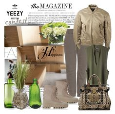 """""""YEEZY"""" by din-sesantadue ❤ liked on Polyvore featuring Anja, John-Richard, adidas Originals, Gucci, Cyan Design, women's clothing, women, female, woman and misses"""