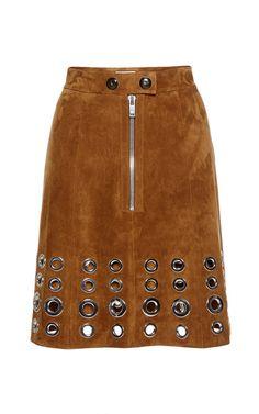 Skirt In Eyelet Suede by Sonia Rykiel for Preorder on Moda Operandi