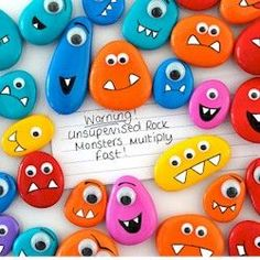 Rock painting is fun and you can make some awesome pieces! If you don't like these cute little monsters, just do a Pinterest search for painted rocks and you'll be amazed at what you see!