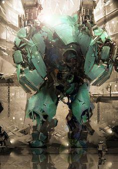 metal-maniac-starship-mechanic:   Godzilla Mech - Cyberpunk Images