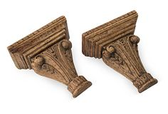 Wood Brackets, Pair I on OneKingsLane.com