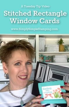 Today's video is a Tuesday technique tip - A window card you'll want to make today! I'm sharing how to make a Stitched Rectangle window card. Card Making Tips, Card Making Tutorials, Card Making Techniques, Making Ideas, Card Tricks, Card Making Inspiration, Fancy Fold Cards, Folded Cards, 3d Cards