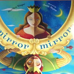 """""""mirror mirror: A Book of Reversible Verse"""" by Marilyn Singer illustrated by Josée Masse - fun to read and reread - poems are in pairs - e.g. the first poem starts """"Who says it's true - """" while it's pair ends """"It's true.  Says who?"""" A unique writing challenge for intermediate students."""