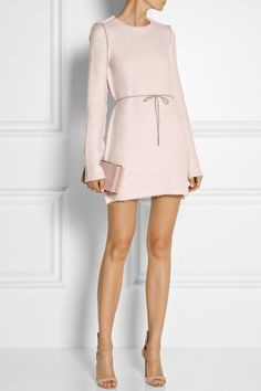 Calvin Klein Collection|Jacquard-knit mini dress|NET-A-PORTER.COM
