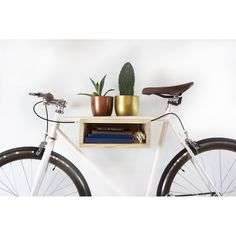 Wall Mounted Bike Support Shelf