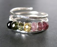 Tourmaline Ring w/ sterling silver wire wrapping