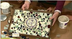 """The Chew: Clinton's Craft Corner - Mosaic Trays-- I've been searching for the """"recipe"""" from this may 10th segment of Clinton's Craft Corner where Clinton made a tray mosaic. I found the video on their youtube channel but can not find the recipe/instructions on their site. Can anyone help me??"""