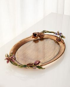 Floral Oval Tray by Jay Strongwater at Horchow.