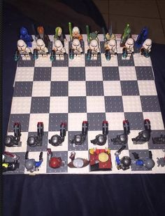 Custom Lego Star Wars Chess set by CriCriCustoms on Etsy