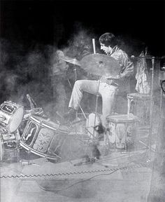 Keith Moon moved his hands and arms like an octopus, just like his mentoring idol before him- Mr. Gene Krupa