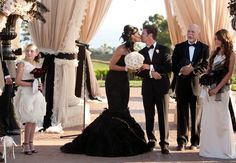 A Rock 'n Roll Wedding (With A Black Wedding Dress! - Photo: John & Joseph Photography // Featured: The Knot Blog